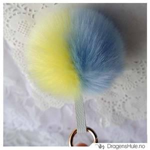 Bilde av Pyntedusk: Pompom blå-gul