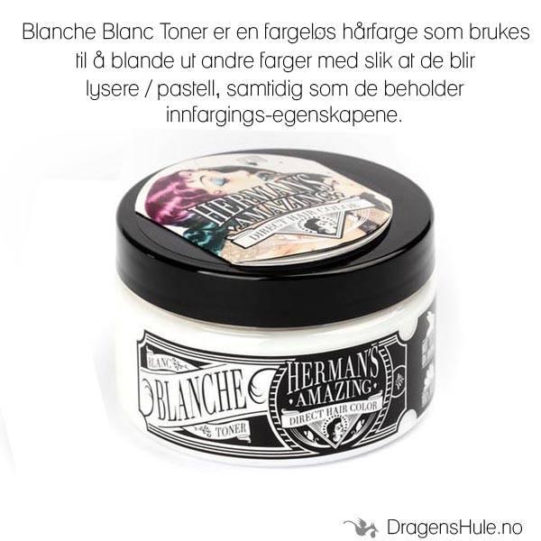 Hårfarge:  Blanche Blanc Toner/Mixer -Hermans Amazing