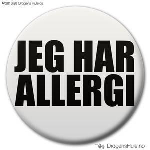 Bilde av  Button: Jeg har allergi (velg farge)