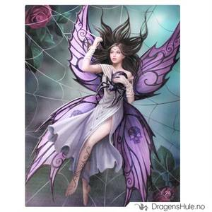 Bilde av Lerretstrykk: Anne Stokes: Silk Lure 19x25cm